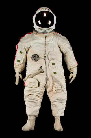 K13440 Yastreb Spacesuit; Full page description in auction catalog with image;