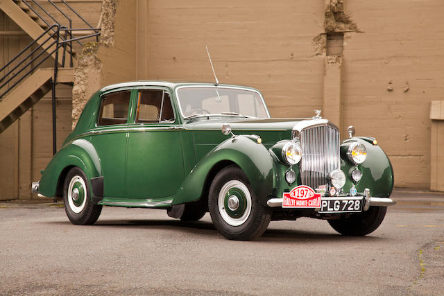 Ex-Mike Couper, 1953 Monte Carlo Rally Coupe d'Or Winner,1952 Bentley R-Type Saloon  Chassis no. B68SR Engine no. B43S