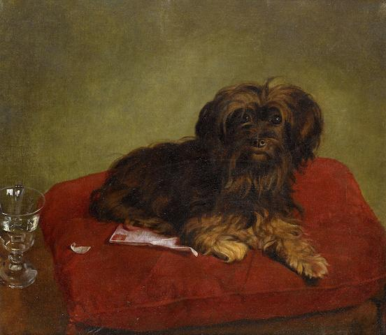 English School, 19th century The Red Cushion 15 7/8 x 18 1/8 in. (40.5 x 46 cm.)