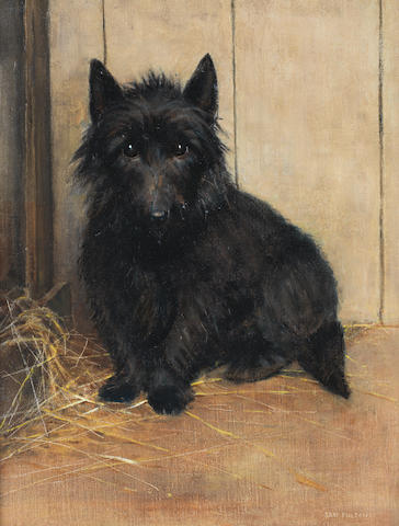 Samuel Fulton (British, 1855-1941) Study of a Terrier 18 1/8 x 14 in. (46 x 35.5 cm.)
