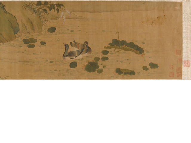 After Cui Bo (11th century) Waterbirds and Reeds, circa 1800