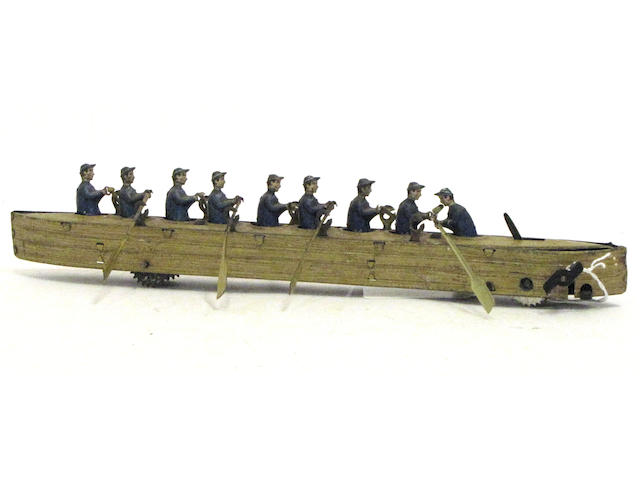 German Articulated Lithographed Row Toy