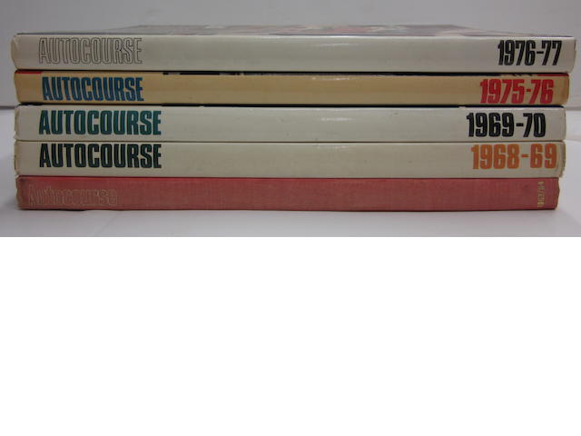A lot of five 'Autocourse' annuals,