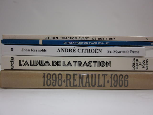 A lot of five French car titles,