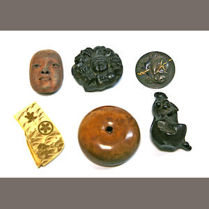 A group of four netsuke
