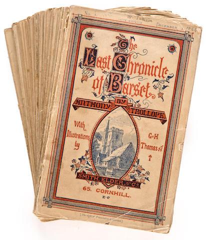 TROLLOPE, ANTHONY. 1815-1882. The Last Chronicle of Barset. London: Smith, Elder & Co., 1866-67.