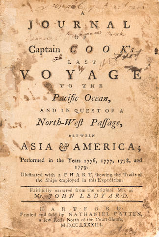 LEDYARD, JOHN A Journal of Captain Cook's Last Voyage to the Pacific Ocean