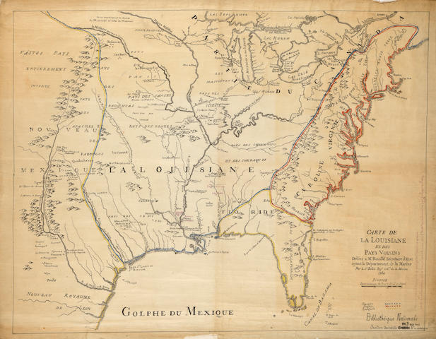 French Military Map of America, 1750