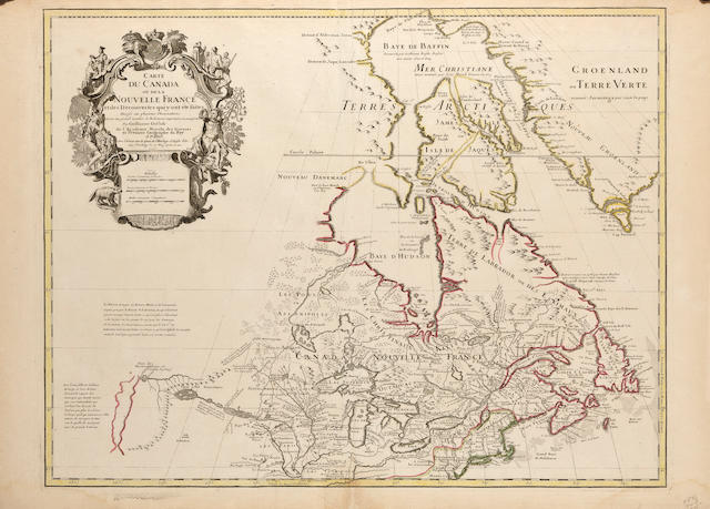 De L'isle Carte du Canada 1703