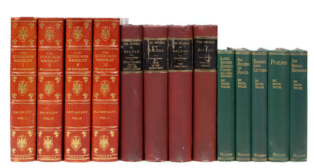 LITERATURE. 64 volumes, including: Balzac, Honore de. The Novels. Philadelphia: 1897-98.