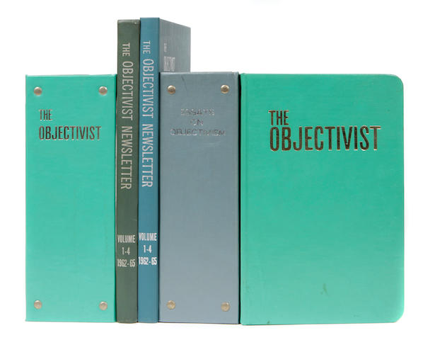 RAND, AYN. Issues of The Objectivist, The Ayn Rand Letter, from the collection of Arthur Silber.