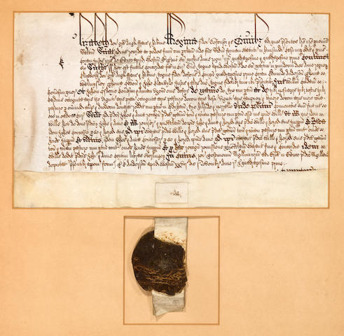 ELIZABETHAN COURT DOCUMENT.