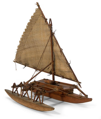 Outrigger Canoe Model, Fiji Islands