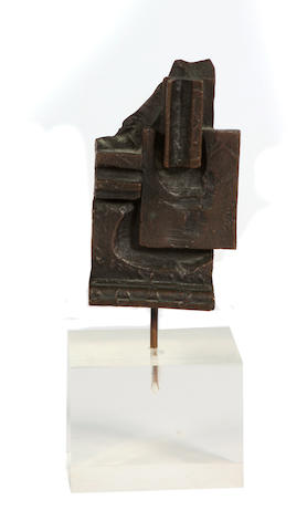 Louise Nevelson (American, 1899-1988) Brandeis Multiple, 1968-1969 bronze dimensions 4 x 2 1/2 x 1 3/4in
