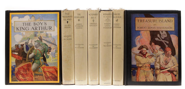 WYETH, N.C. 7 titles illustrated by Wyeth, including