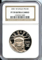 2001-W Platinum Eagle, 1 Oz. ($100) Proof 70 Ultra Cameo NGC