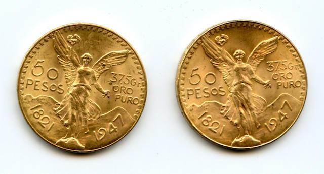 Mexico, 50 Pesos, 1947 (Restrike) (2)