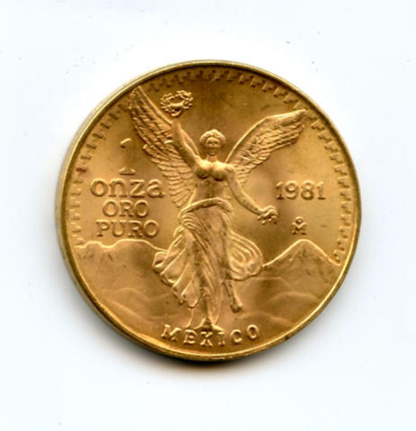 Mexico, 1 oz Gold Onza, 1981