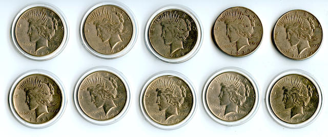 Peace Dollars Set (10)