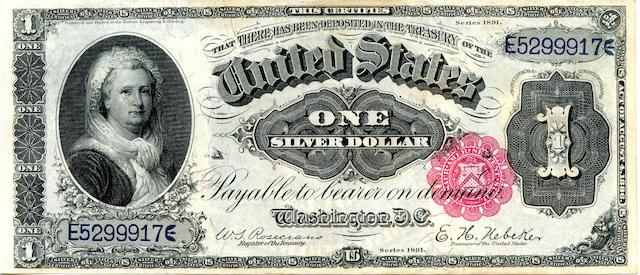 1891 $1 Silver Certificate