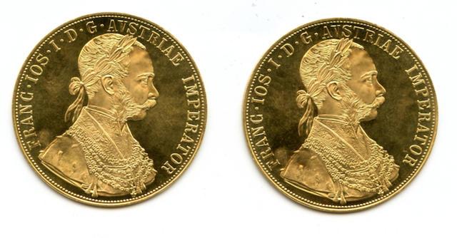 Austria, 4 Ducat Restrike, 1915 (2)