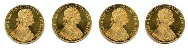 Austria, 4 Ducat Restrike, 1915 (4)