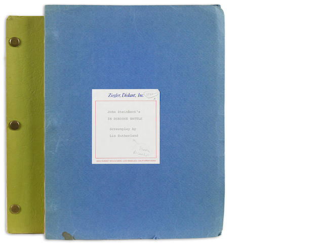 Steinbeck. John.  Screenplay for In Dubious Battle.  2 copies.