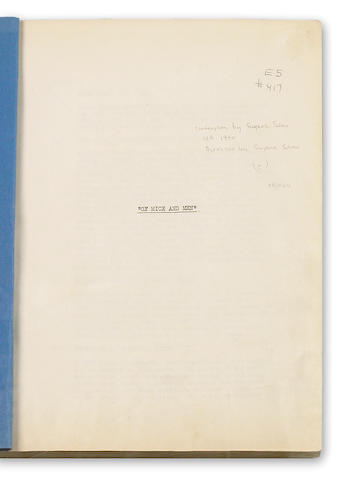 Steinbeck, John. Screenplay for Of Mice and Men, by Eugene Solov, with alternate endings, in custom clamshell box.
