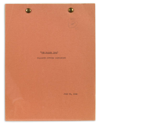 Greene, Graham.  The Fallen Idol.  Screenplay, dialogue cutting continuity.  3 copies.
