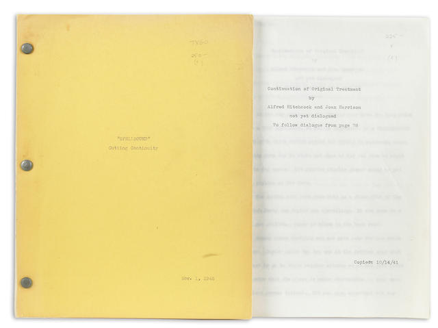 A group of Alfred Hitchcock scripts and treatments
