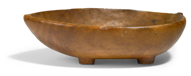 Rare Ceremonial Food Bowl, umete, Tahiti/Austral Island, Society Islands