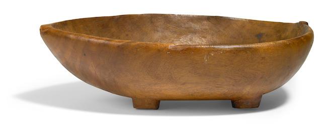 Rare Ceremonial Food Bowl, umete, Tahiti/Austral Island, Society Islands
