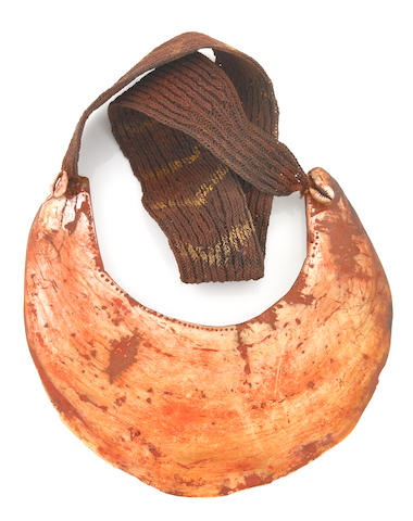 Shell and Fiber Valuable/Necklace, probably Melpa Peoples, Western Highlands Province; Mount Hagen Region