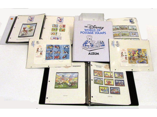 Collection Of World Of Disney Postage Stamps