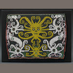 Kenyah Dayak Beaded Baby-Carrier Panel, East Kalimantan, Borneo Island