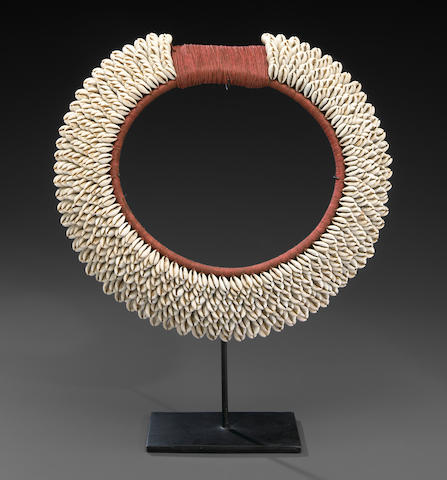 Shell and Fiber Necklace, West Papua, Papua New Guinea