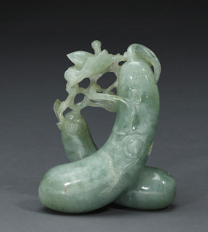 A green jadeite eggplant group