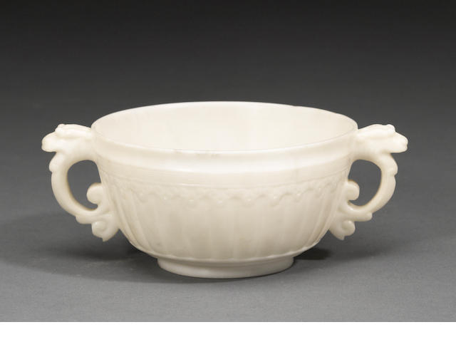 A double handled marble cup