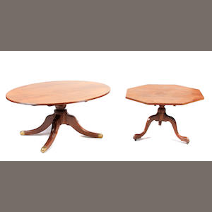 A George III mahogany oval top breakfast table