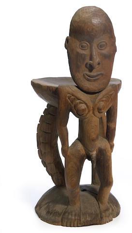 Iatmul Orator's Stool, kawa rigit, East Sepik Province, Papua New Guinea