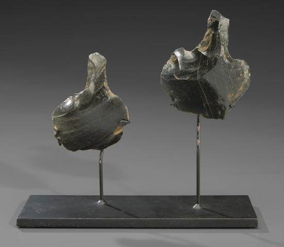 Two Obsidian Knives, Rapa Nui (Easter Island)