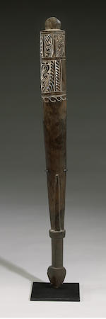 Massim or Trobriand Islands Club or Dance Paddle, Papua New Guinea
