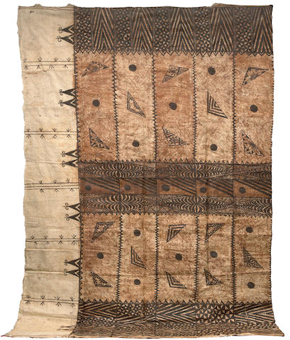 Large Tapa Cloth, ngatu, Va'vau Islands, Tonga