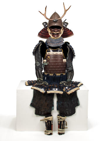A suit of armor with a russet-iron yokohagi okegawa cuirass 18th century