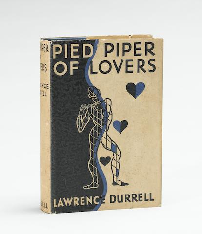 DURRELL, LAWRENCE. 1912-1990. Pied Piper of Lovers. London: Cassell and Company, [1935].