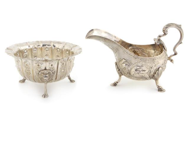 An Irish George III sterling silver sugar bowl Samuel Walker, Dublin,  Circa 1765