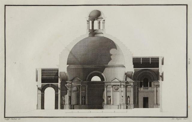 CALDERARI, OTTONE. 1730-1803. Disegni e scritti d'architettura. Vincenza: Paroni, 1808-[1817].