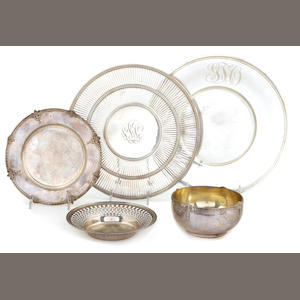 A group of American sterling silver  hollowware 20th century