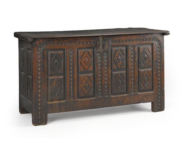 A Continental oak chest<BR />late 17th century