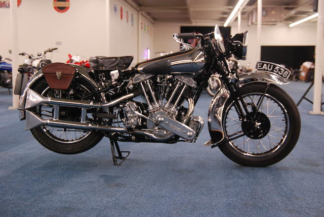 Tennant-Eyles restoration, offered for sale for the first time in 22 years,1937 Brough Superior SS100 Frame no. M1/1897 Engine no. BS/X2 1099